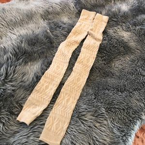 Free People thigh high leg warmers